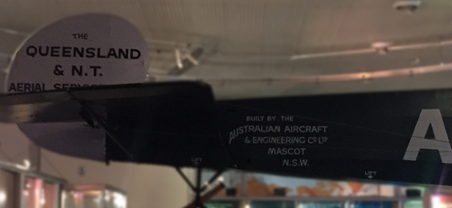 One of the first QANTAS fleet planes at the  Qantas Founders Museum , Longreach. (CC)BY-SA