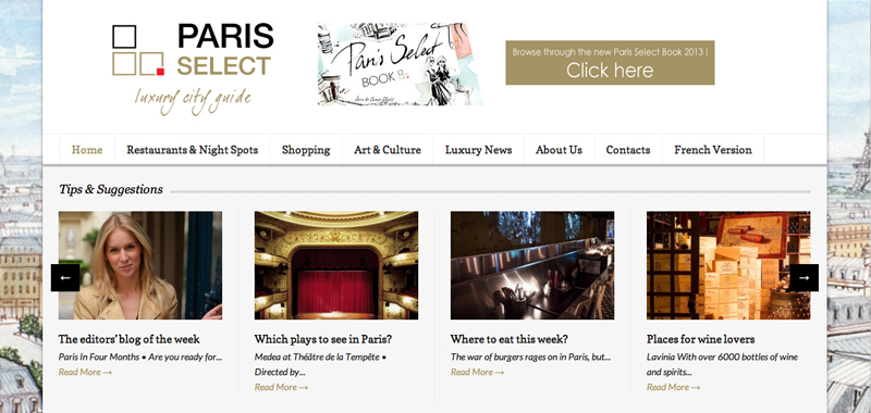 Paris in Four Months featured on Paris Select