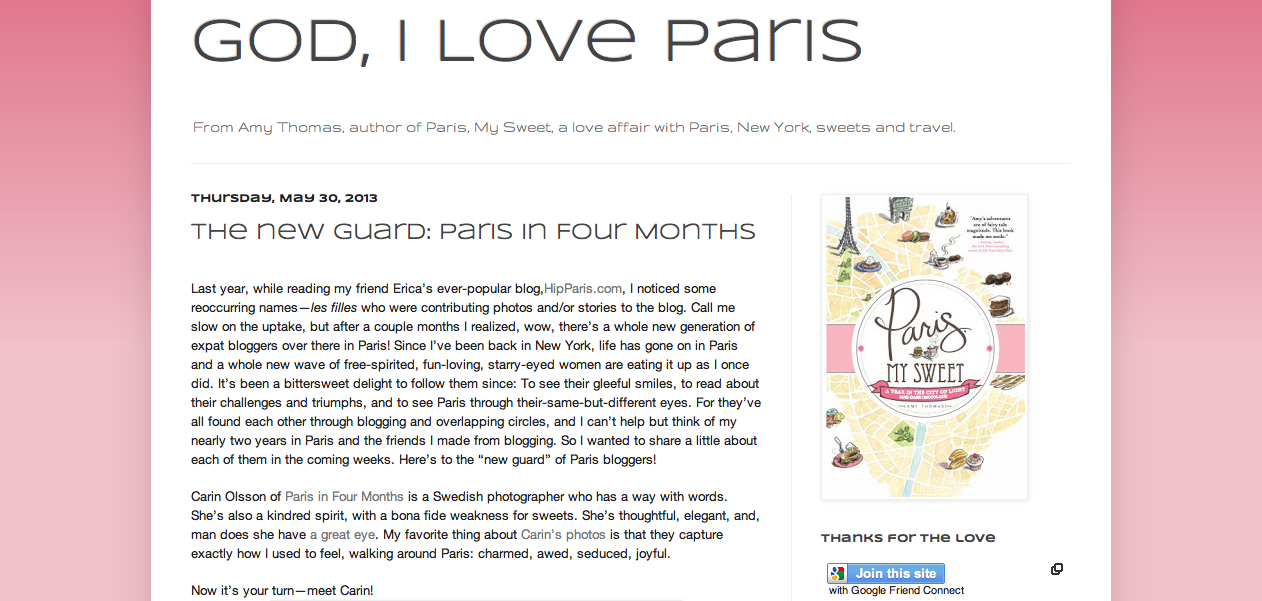 Interview for God, I Love Paris and Amy Thomas