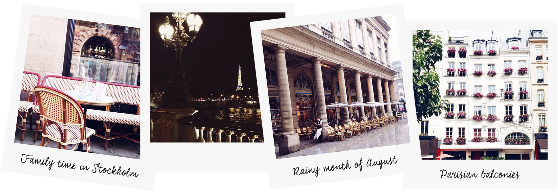 Polaroids photo by Carin Olsson (Paris in Four Months)