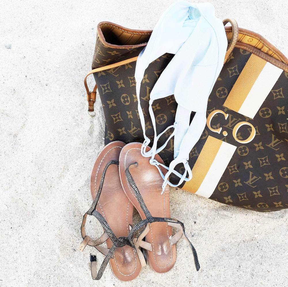 Bag: Louis Vuitton Shoes: Les Tropeziennes Bikini: COS