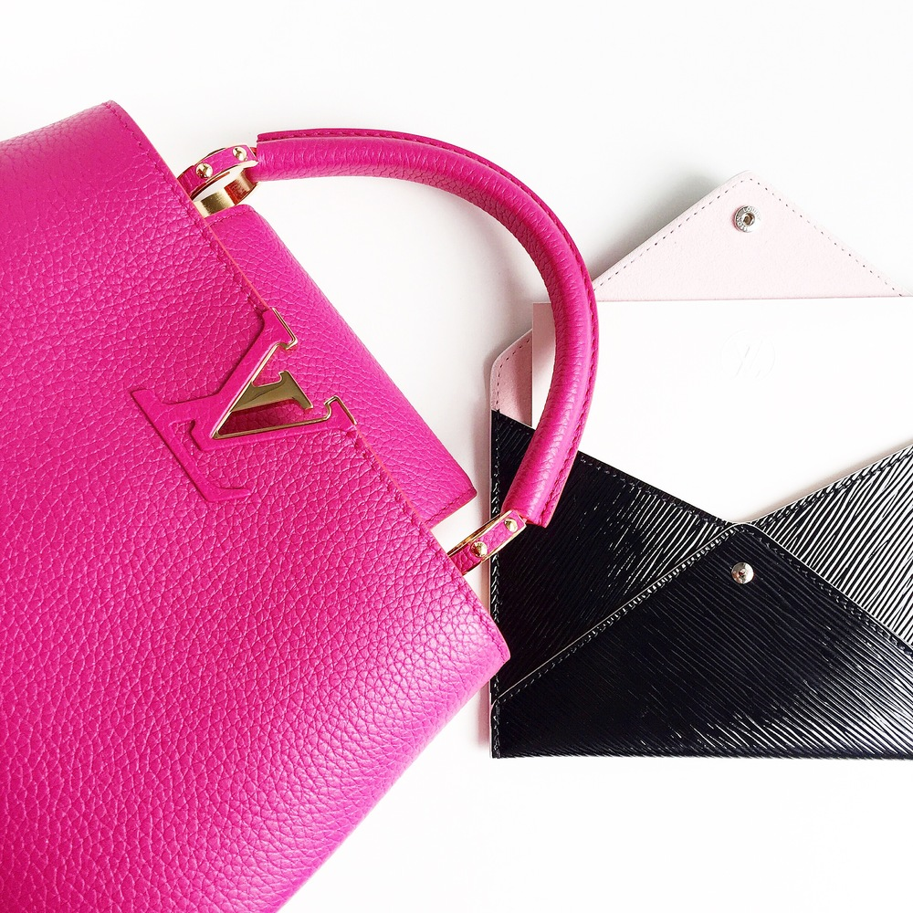 Bag & envelope clutch: Louis Vuitton