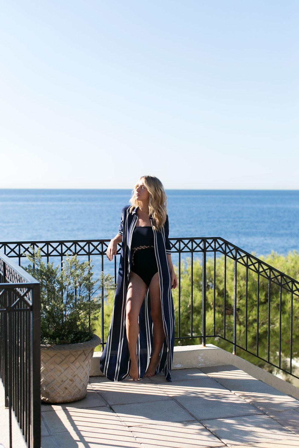 Dress:  Iris & Ink  Swimsuit:  Eres