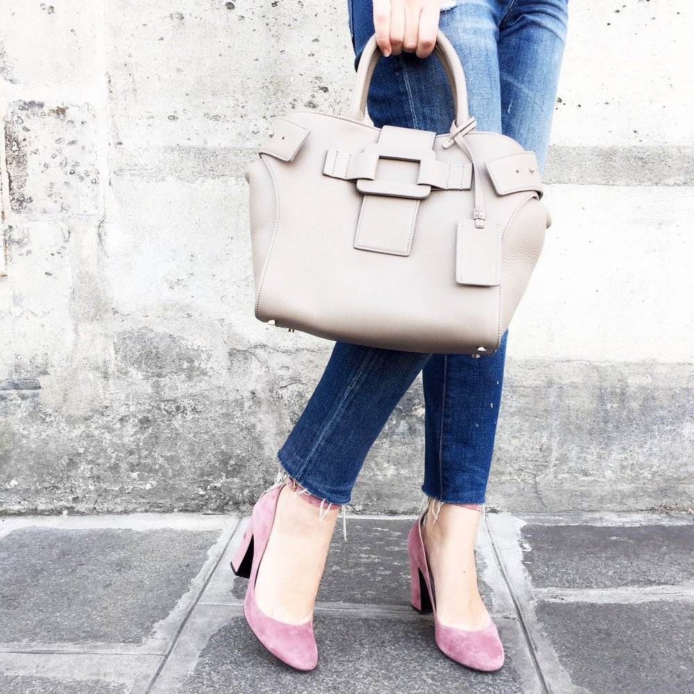 Bag:  Roger Vivier    Shoes:  Jonak x Adenorah