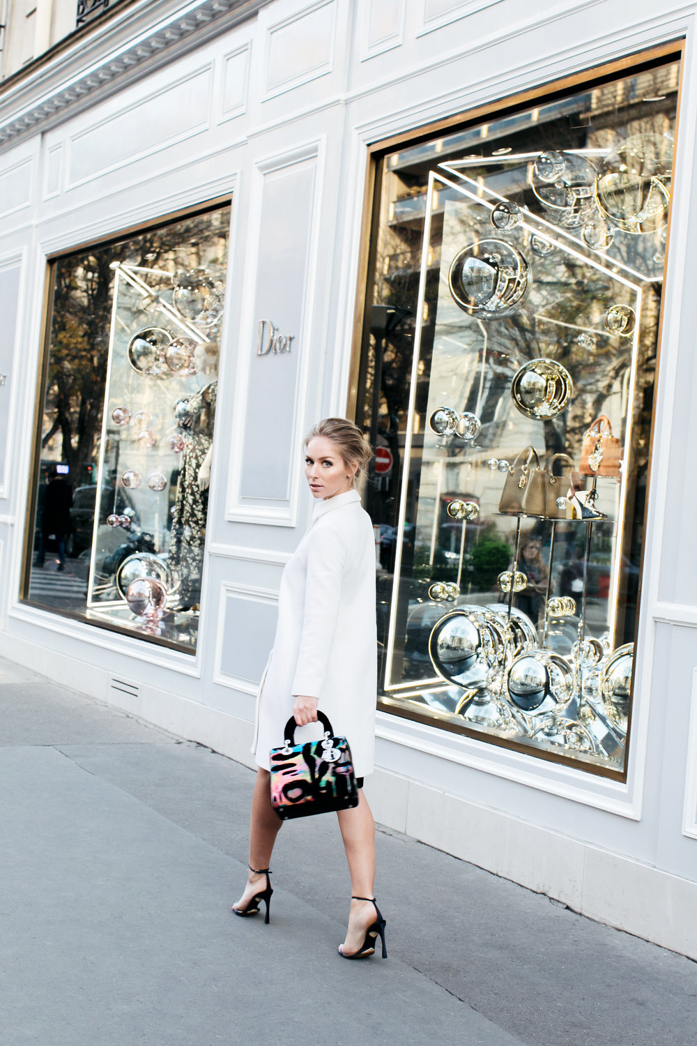 Coat, shoes & bag:  Dior