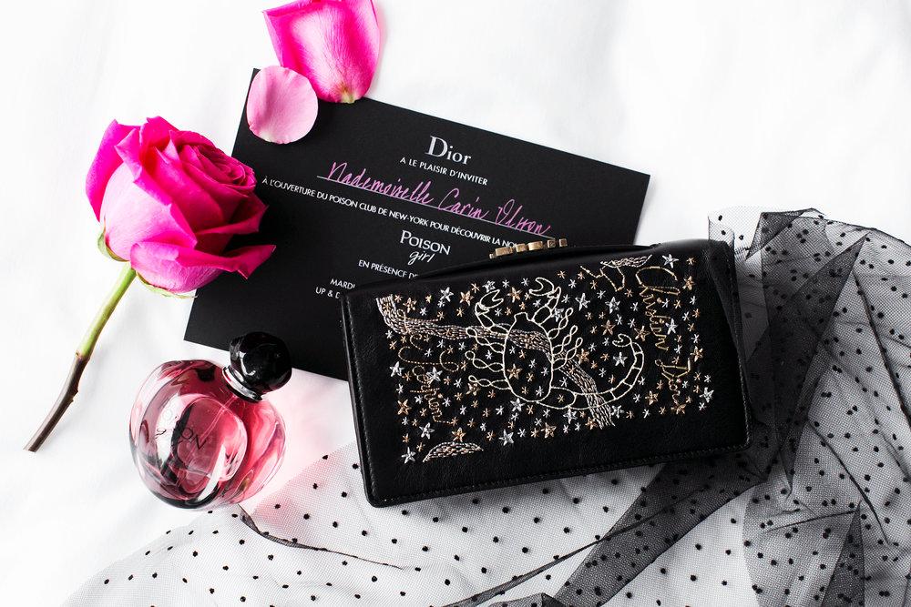 Bag, skirt & perfume:  Dior
