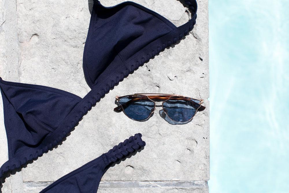 Bikini:  ERES  Sunglasses:  Dior