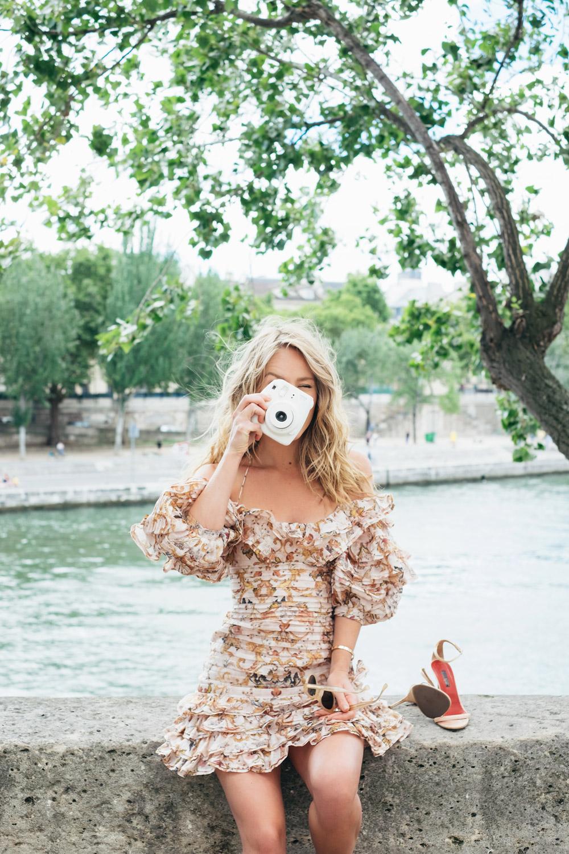 Dress:  Zimmermann  Shoes:  Carolina Herrera