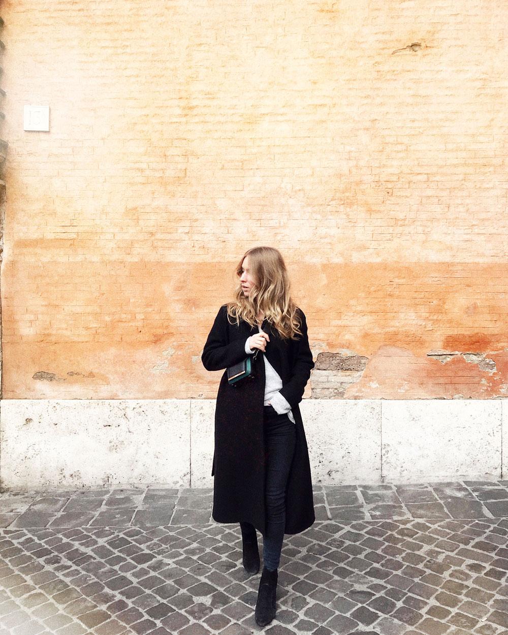 Jacket & Jeans:  COS  Bag: Chopard Shoes:  Louis Vuitton