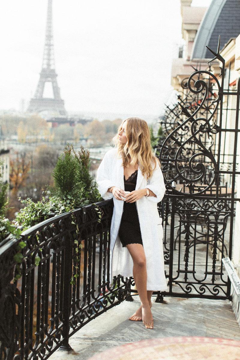 Watch:  Panthère de Cartier  Slip dress:  Calvin Klein