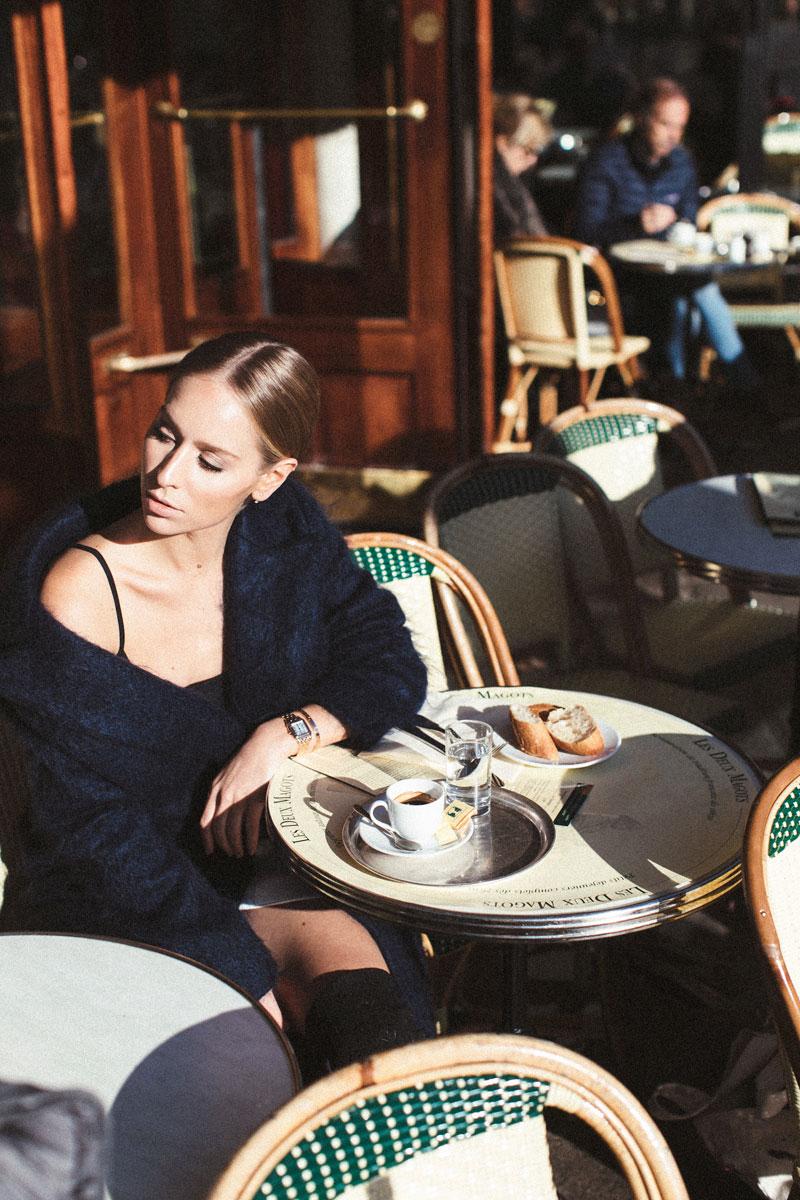 Watch:  Panthère de Cartier  Jacket:  Tommy Hilfiger  Shoes:  Louis Vuitton