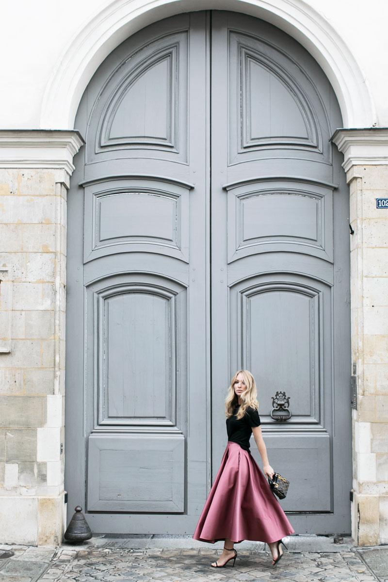 Skirt:  Rochas  Bag:  Dior