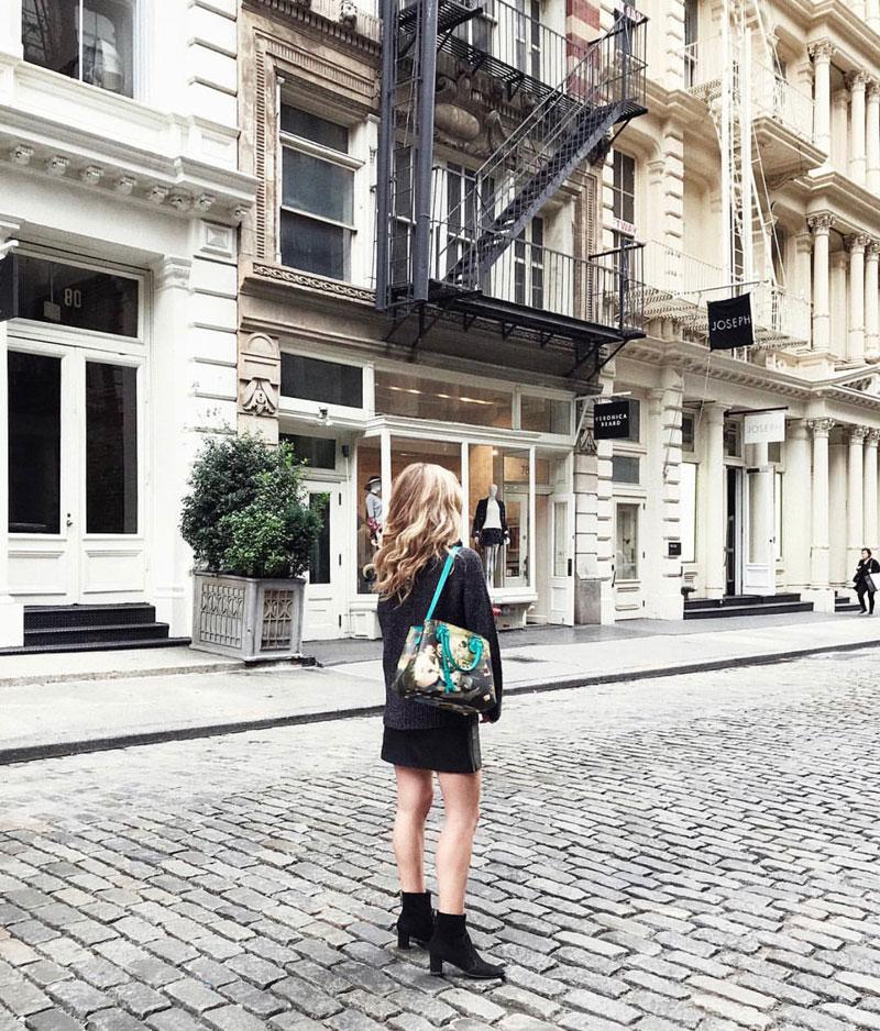Coat:  AKRIS  Jeans:  COS  Sweater:  All Saints  Bag:  Gucci  Shoes:  Louis Vuitton