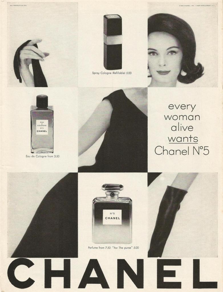Vintage Chanel ad, image via here