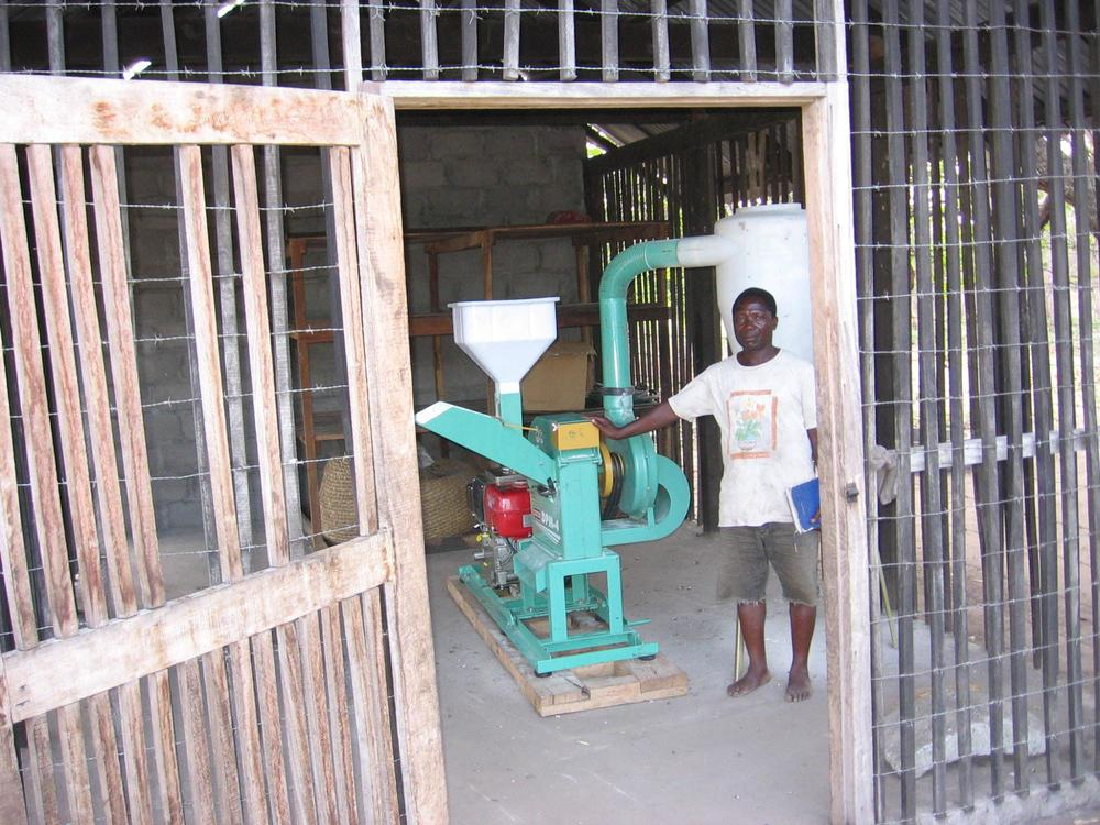 Grinding mills donated