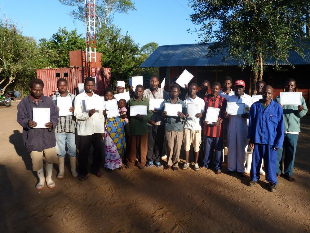 Apiculture training - class graduation