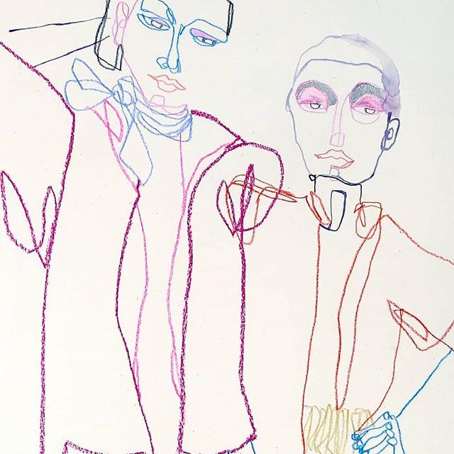Fredagsstrek laget på en onsdag✌️ Akkurat nå redigerer jeg video og klargjør for kåpe bestilling i webshop'en🐵🐥 Åpner for bestilling på mandag!✨ . . . . . . . #drawing #illustration #fashionillustration #illustrasjon #linedrawing #artonpaper #figurativeart #colorinspo #artofdrawingg #majastabel