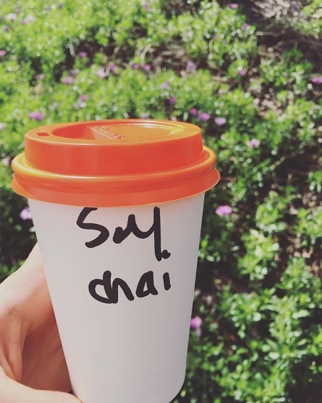 Walks and Chai in the sunshine ☀️ Melbs, well done today! Kx #healthyisawayoflife