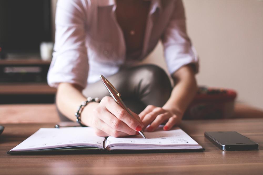 .Girl Writing in a Diary by Viktor Hanacek, via PicJumbo