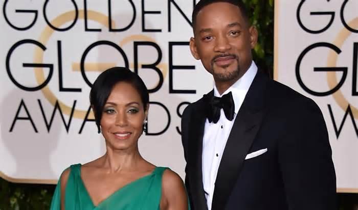 Jada Pinkett and Will Smith at the 2016 Golden Globe Awards