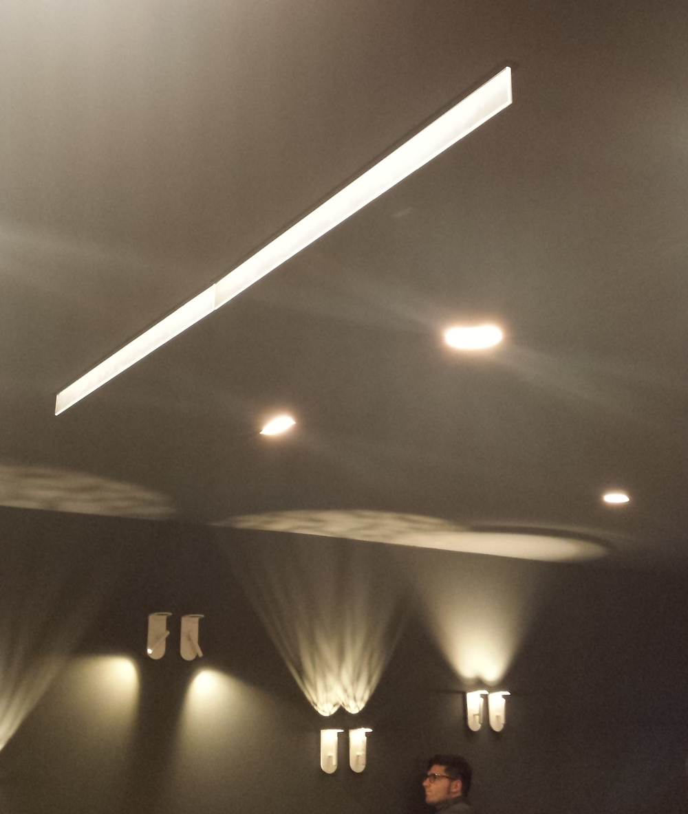 Recessed Blade and Pattern wall lights