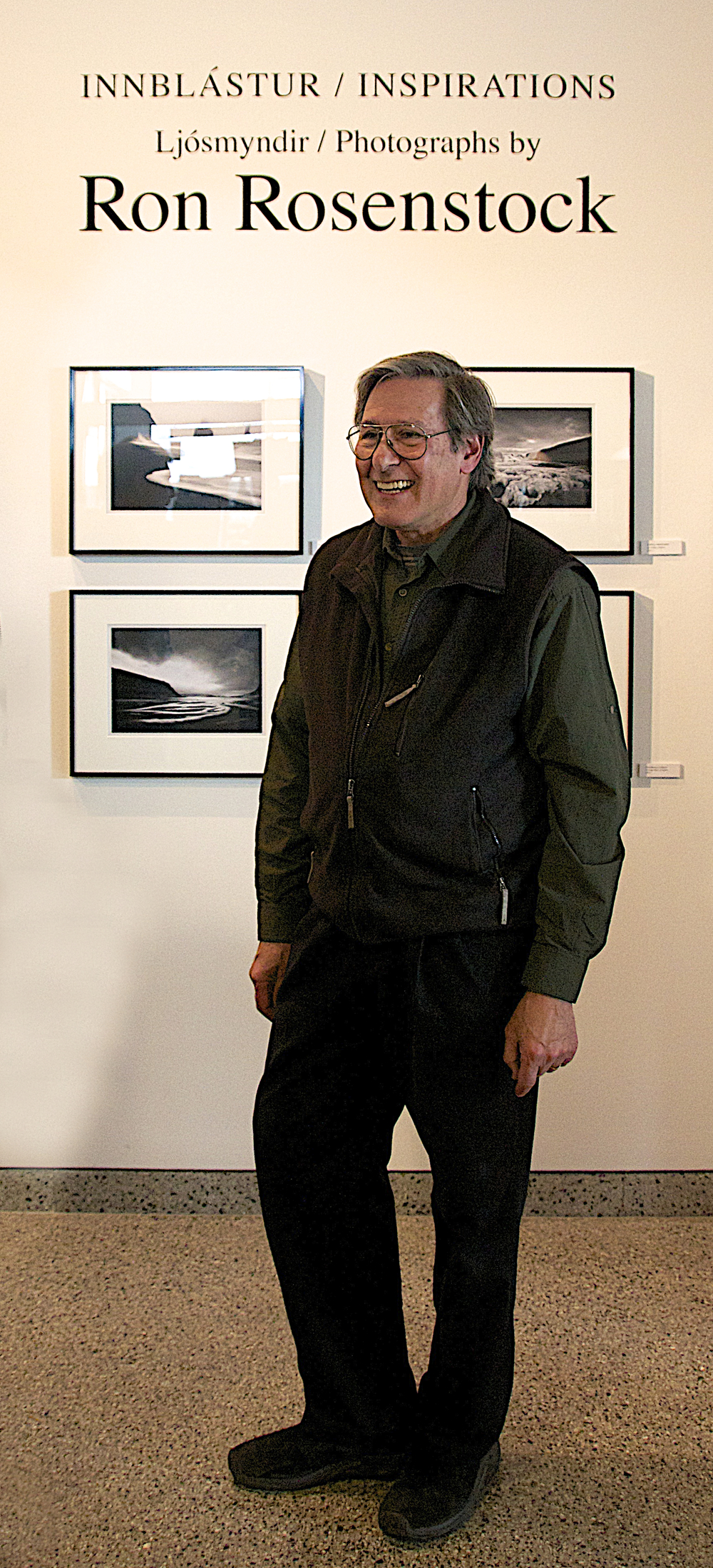Ron at the opening of his solo exhibit at The National Museum of Iceland, 2014
