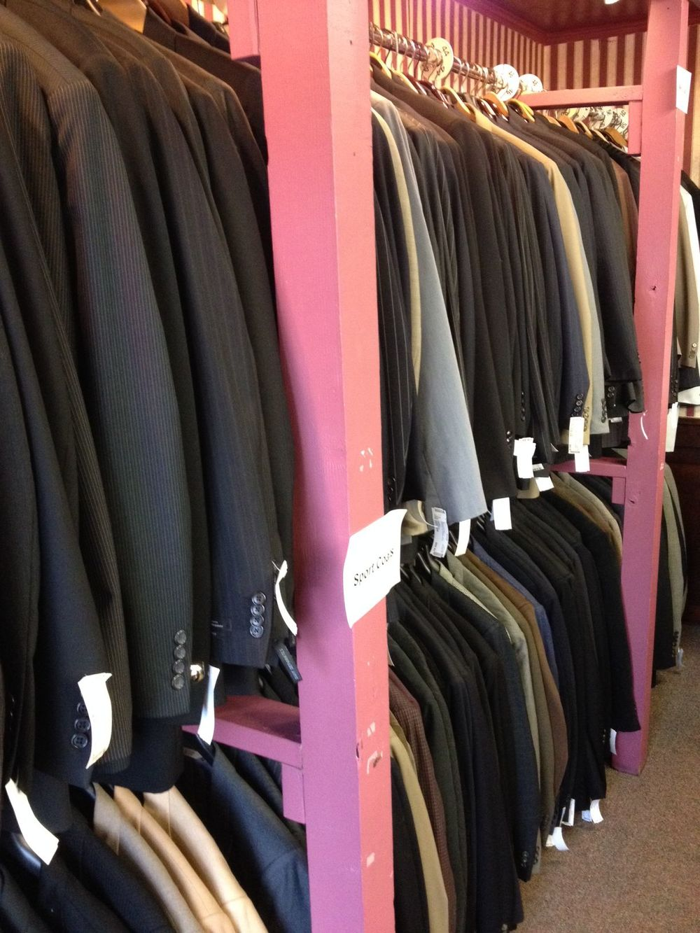 We have a large selection of suits & sport coats ranging from  $30.00 to $100.00