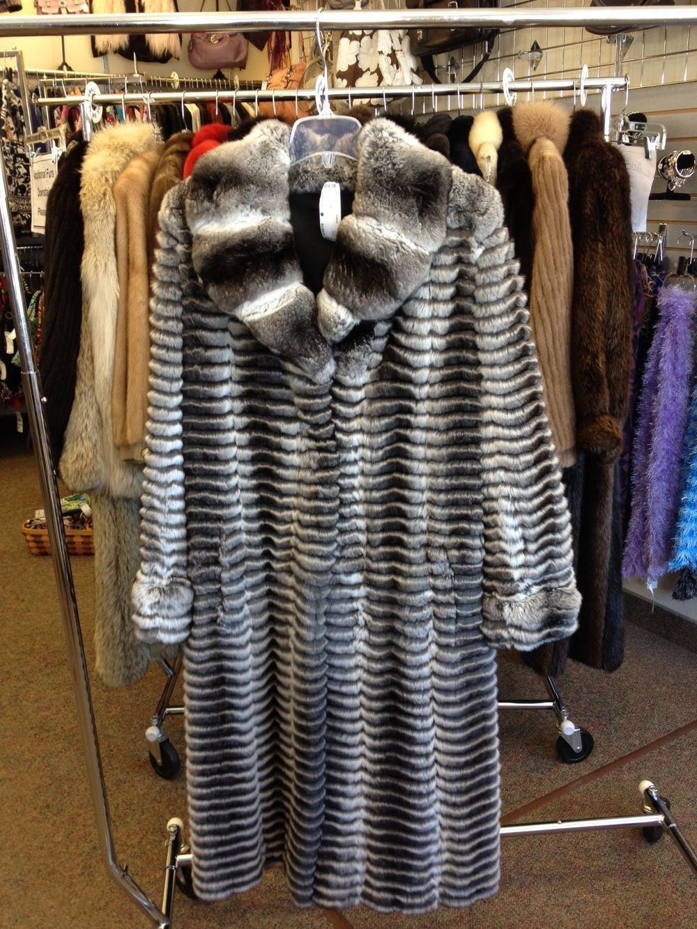 Size S  Chinchilla Coat    $4000.00