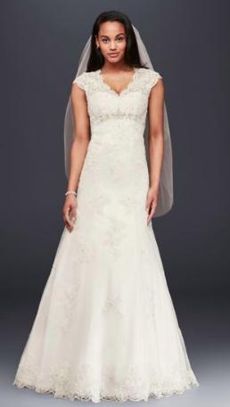 David's Bridal Size 4 $400.95