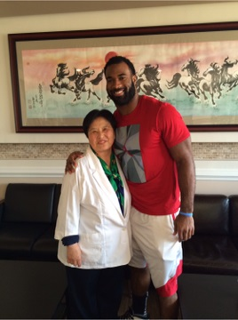 Zaviar Gooden (American Football Linebacker) with Dr. Jin
