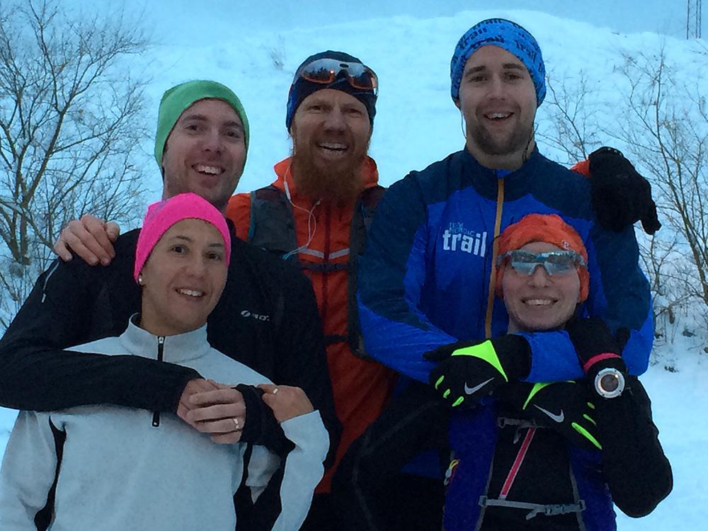 Och sen fick vi sällskap av Stefan och Kiki som var riktigt starka och sprang på bra både uppför och utför!