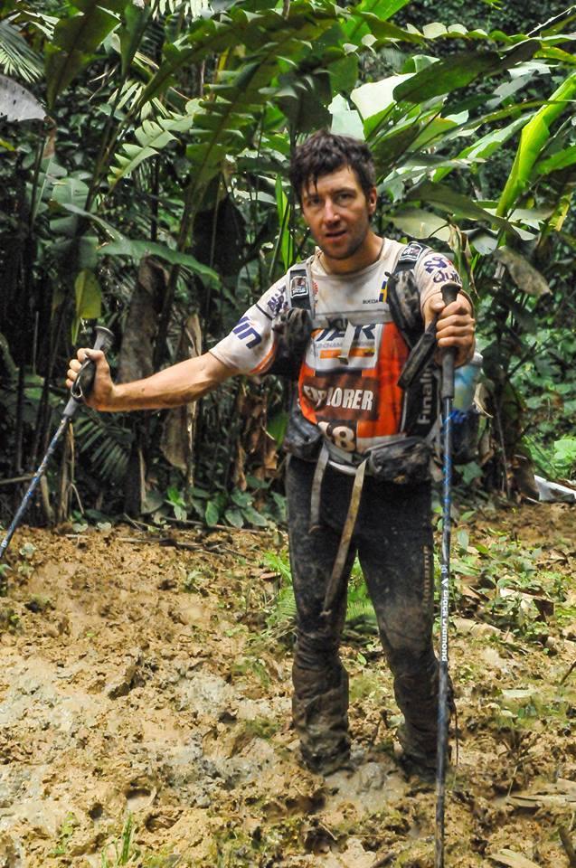 Jari under en 24-timmars trekking-sträcka, 5:e dygnet på VM i Ecuador.