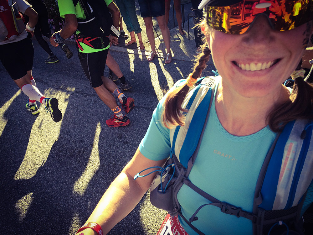 Happy and still in Chamonix, only minutes after the start.