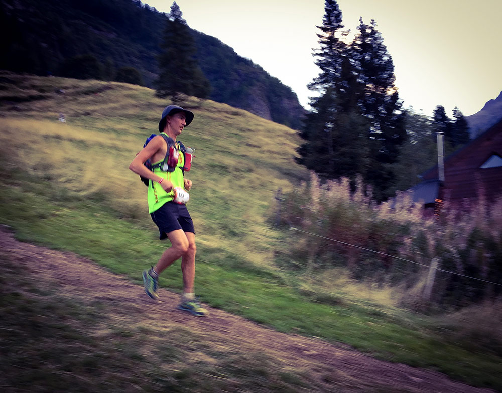 Elov had a tough race and here at Vallorcine (151k) he wasn't all happy.