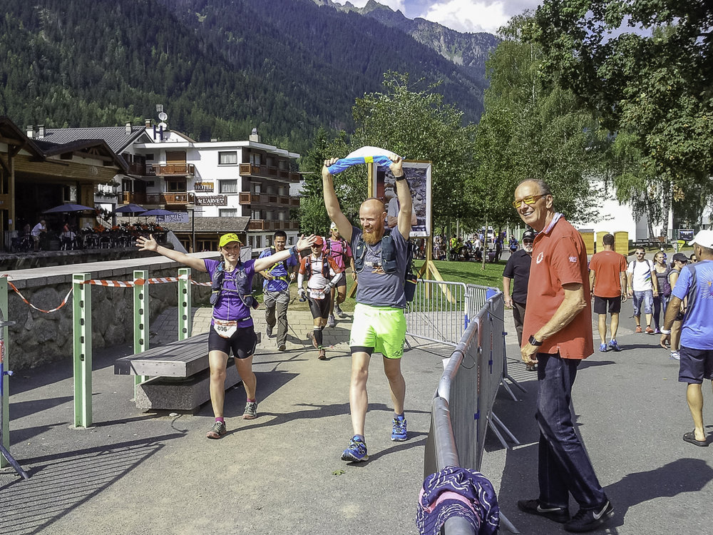 Finally in Chamonix!  Photo credit   Gen Novak .