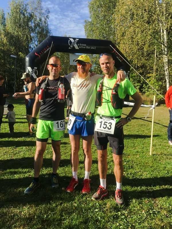 Innan start tillsammans med våra adepter Ruben och Anders som också skulle ge sig i kast med Black River Run 100 miles. Foto Coyntha Sedvall.