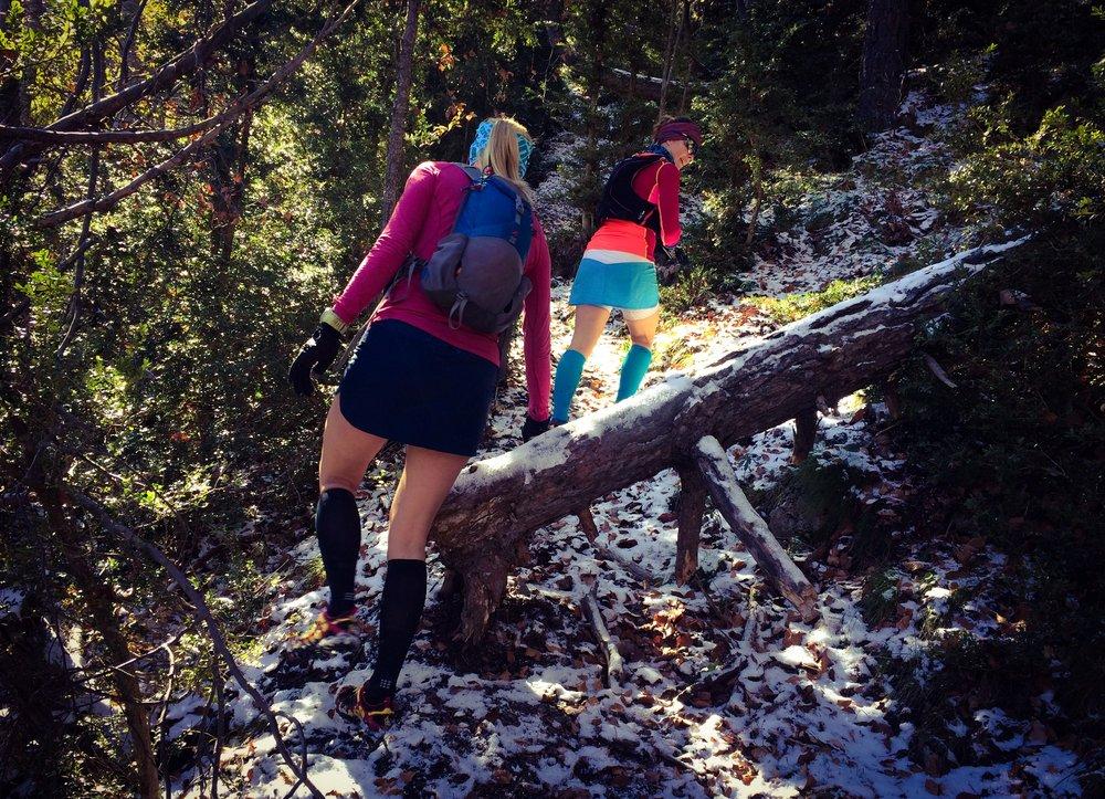 Pyrenéerna bjöd på snö på högre höjder!