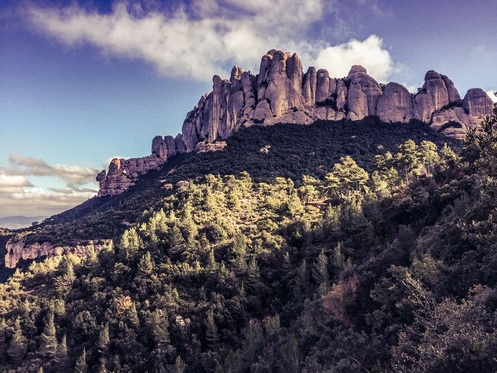 Bergsmassivet Montserrat
