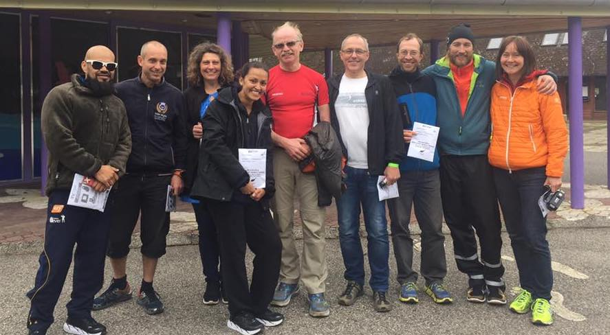 Från vänster: Georg, Christian, Ann, Yudith, Janne, Tommy, Christer, Johan och Kristina. Foto Carina Borén.