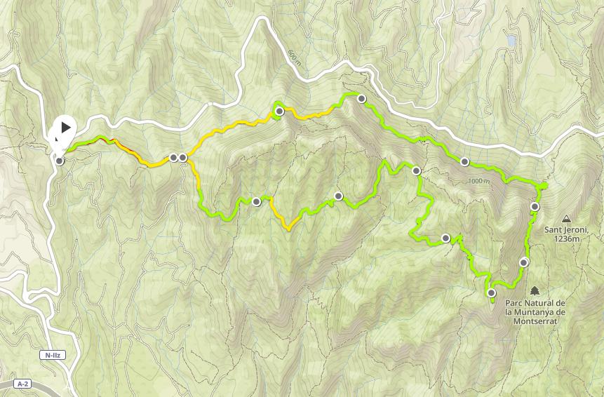 Även den här turen blev ca 12 km och 1000 höjdmeter