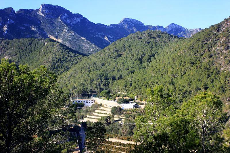 Villa Montgrau. Vi bor mitt i bergen med stigen precis utanför dörren!