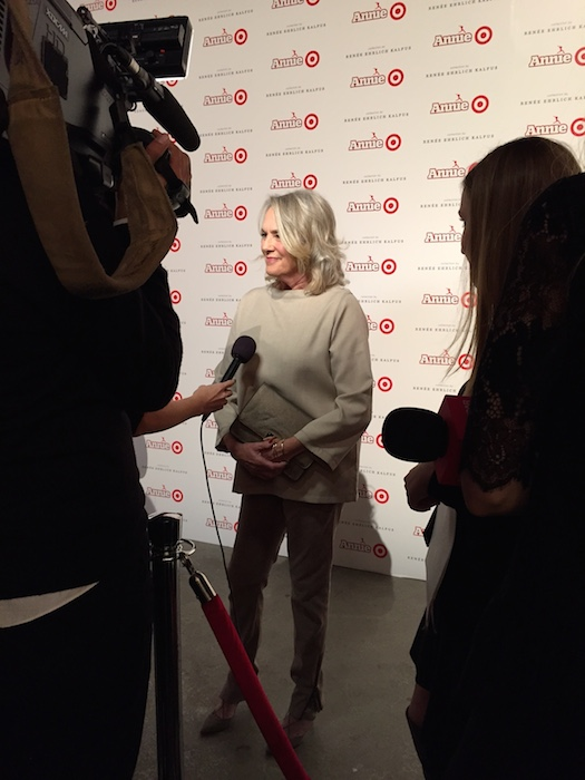 Renée at the Annie for Target Launch
