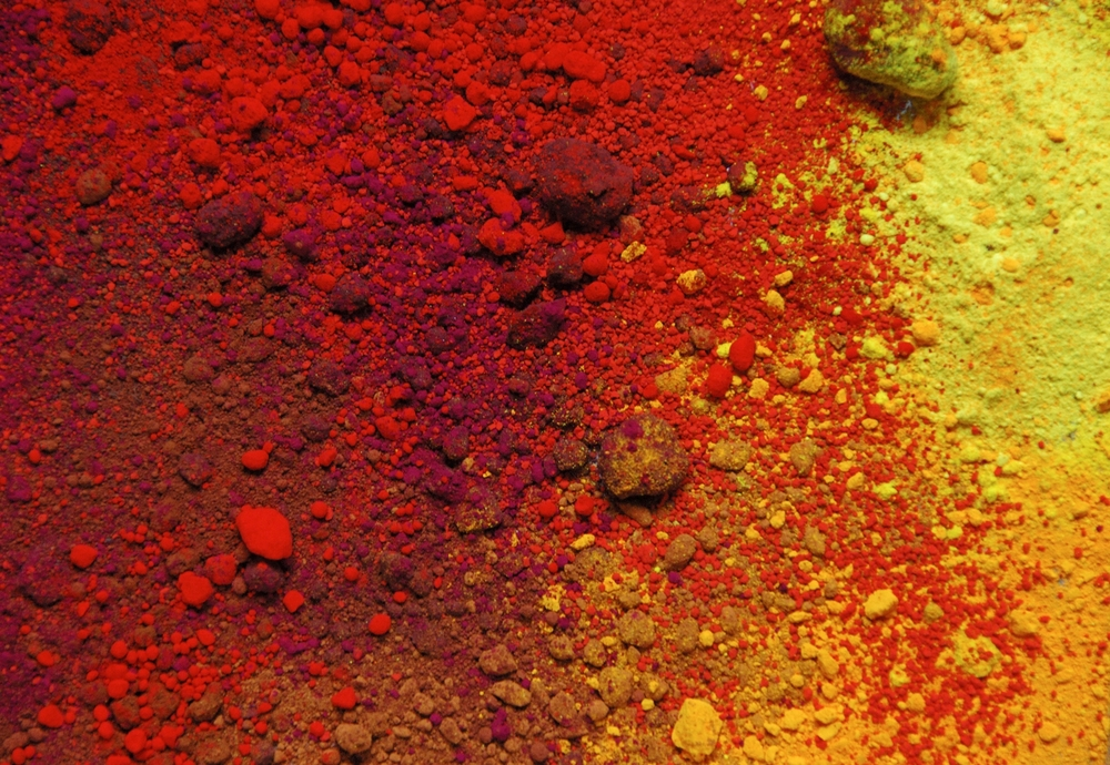 Red, Yellow & Earth pigments