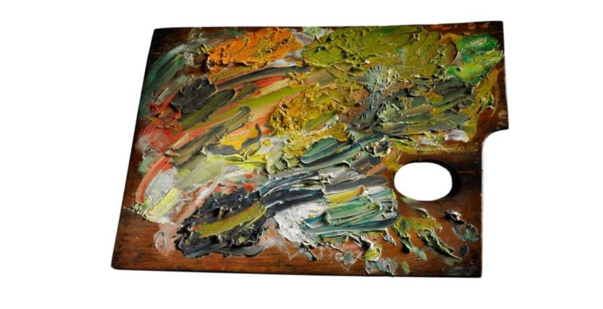 Probably Van Gogh's palette from Auvers sur Oise