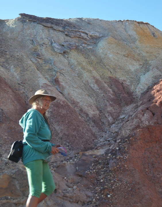 Collecting ochre in South Australia