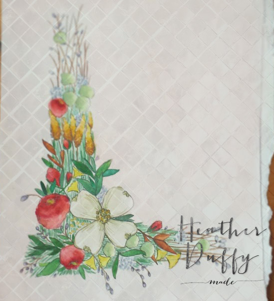 Heather Duffy Made | Floral Monogram | L