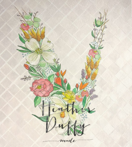 Heather Duffy Made | Monogram | Floral | V