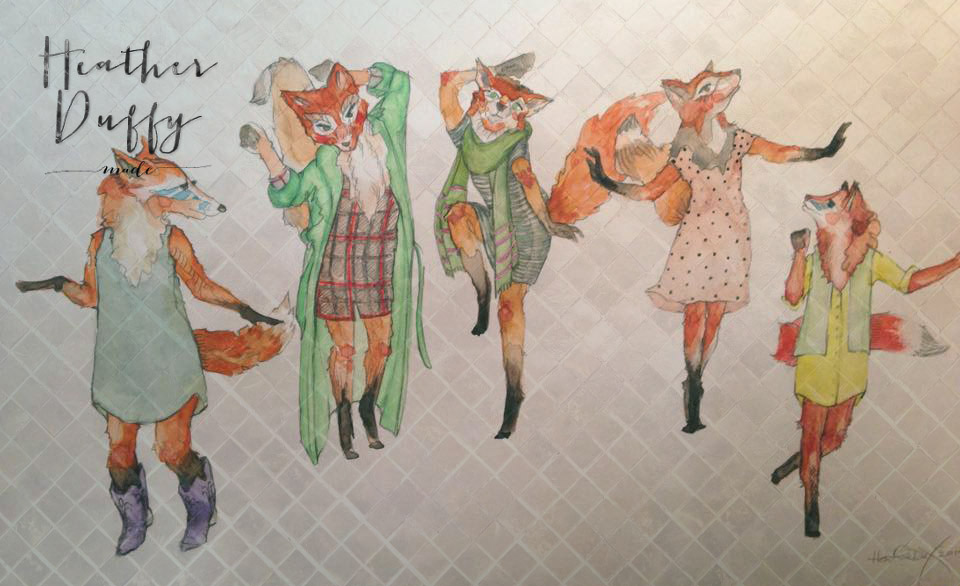 Heather Duffy Made | Commissions | Five Foxes | 2015
