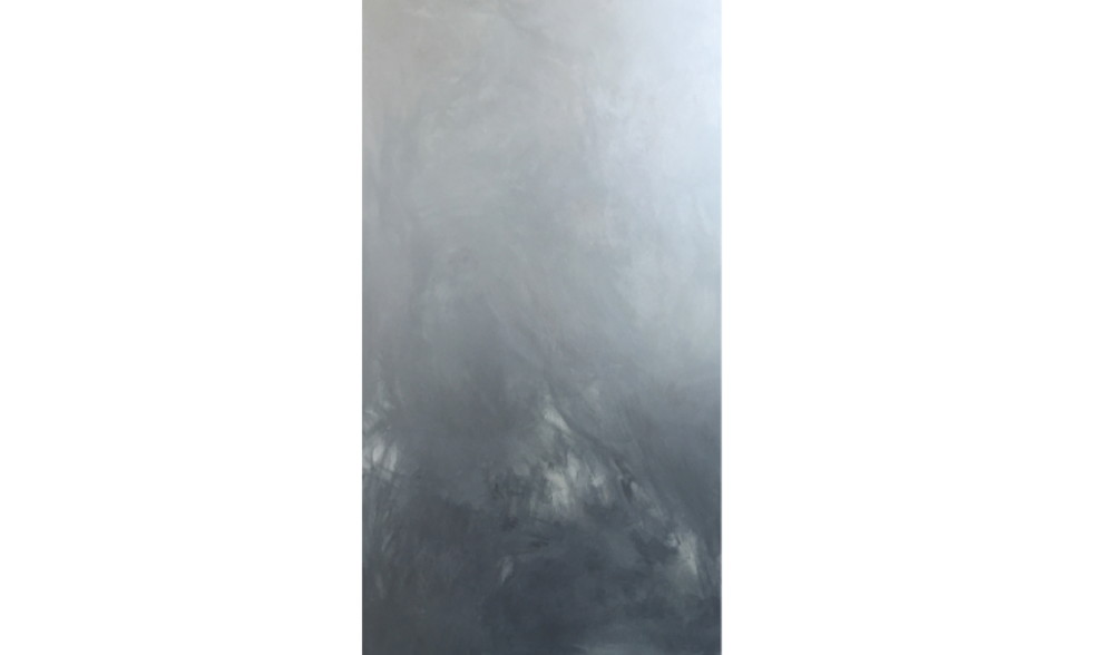 CHROMIUM NO. 4 (CA' DOLPHIN) , SPRING 2016, CHROME PIGMENT ON LINEN, 84 X 48 INCHES (213.36 X 121.92 CM)