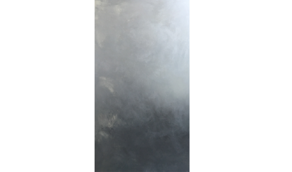 CHROMIUM NO. 5 (CA' DOLPHIN) , SPRING 2016, CHROME PIGMENT ON LINEN, 84 X 48 INCHES (213.36 X 121.92 CM)